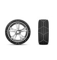 car tires with snow chains for winter road vector image vector image