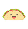cartoon character taco isolated on white vector image