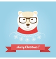 Christmas cute forest bear head logo vector image vector image