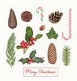 christmas decoration hand drawn vector image vector image