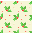 Christmas mistletoe seamless pattern background vector image vector image
