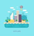 City Life Flat Style Conceptual for Web Banners or vector image