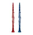 clarinet instrument cartoon music graphic vector image vector image