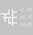 crossword empty set vector image