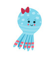 cute cartoon octopus baby toy colorful vector image vector image