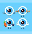 cute healthy happy human eyeball organ vector image vector image