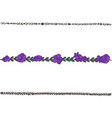 doodle floral line with violets flower design vector image vector image