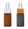 dropper bottle isolated cosmetic eyedropper mockup vector image vector image