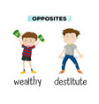 english opposite vocabulary word vector image vector image