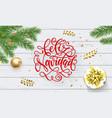 feliz navidad spanish merry christmas holiday vector image vector image