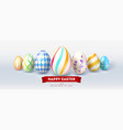 festive design for easter greetings cards vector image vector image
