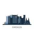 Fortaleza skyline monochrome silhouette