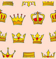 gold crown very glamour of pattern vector image vector image