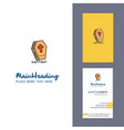 grave creative logo and business card vertical vector image vector image