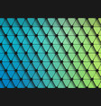 green-blue grait of flat geometric triangle vector image vector image