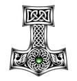 hammer thor medieval viking symbol vector image
