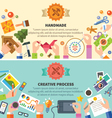 Handmade and creative process vector image vector image