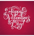 Happy Valentines Day lettering background vector image vector image