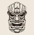 hawaiian tiki mask vintage concept vector image