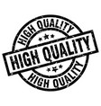 high quality round grunge black stamp vector image vector image