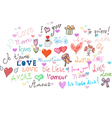 I love you set vector image vector image