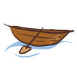 image brown boat or color vector image