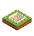 isometric concept of building a house vector image