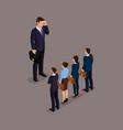 isometric set business people vector image