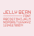 jelly bean font alphabet vector image