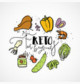 keto for beginners - sketch vector image vector image