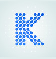 letter k logo halftone icon vector image