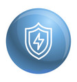 light shield icon outline style vector image vector image