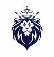lion with crown logo design vector image