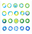 Logo templates set abstract circle signs and vector image