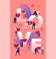 love and heartbreak concept happy couples vector image vector image