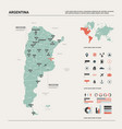 map argentina high detailed country