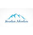mountain tourism landscape logo vector image