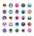 network and hosting flat icons vector image vector image
