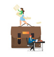 office people daily routine flat vector image vector image