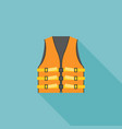 orange adult life vest jacket vector image