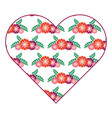 pattern shape heart flower spring ornament image vector image vector image