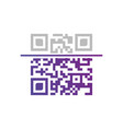 qr code sample for smartphone scanning isolated vector image vector image