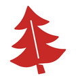 red fir tree icon simple style vector image