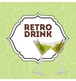 retro drink vector image