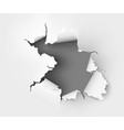 ripped paper on white background vector image vector image