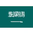 Saudi Arabian flag vector image