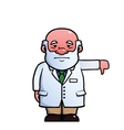 Scientist giving thumbs down vector image vector image