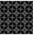 Seamless black small floral elements vector image