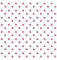 seamless pattern with pink simple flowers on vector image vector image