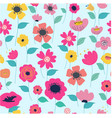 seamless vintage colorful flower garden vector image vector image